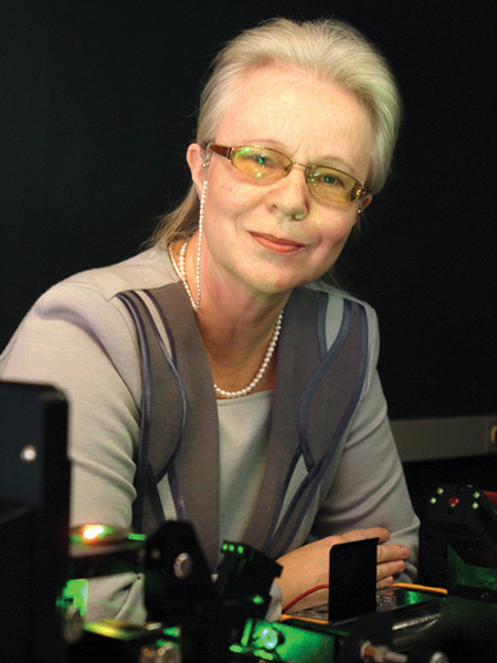 Dr. Olga Kocharovskaya smiles at the camera