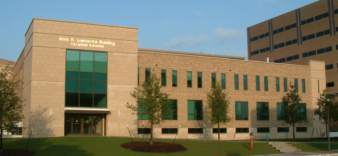 Exterior photograph of the Cyclotron Institute at Texas A&M University