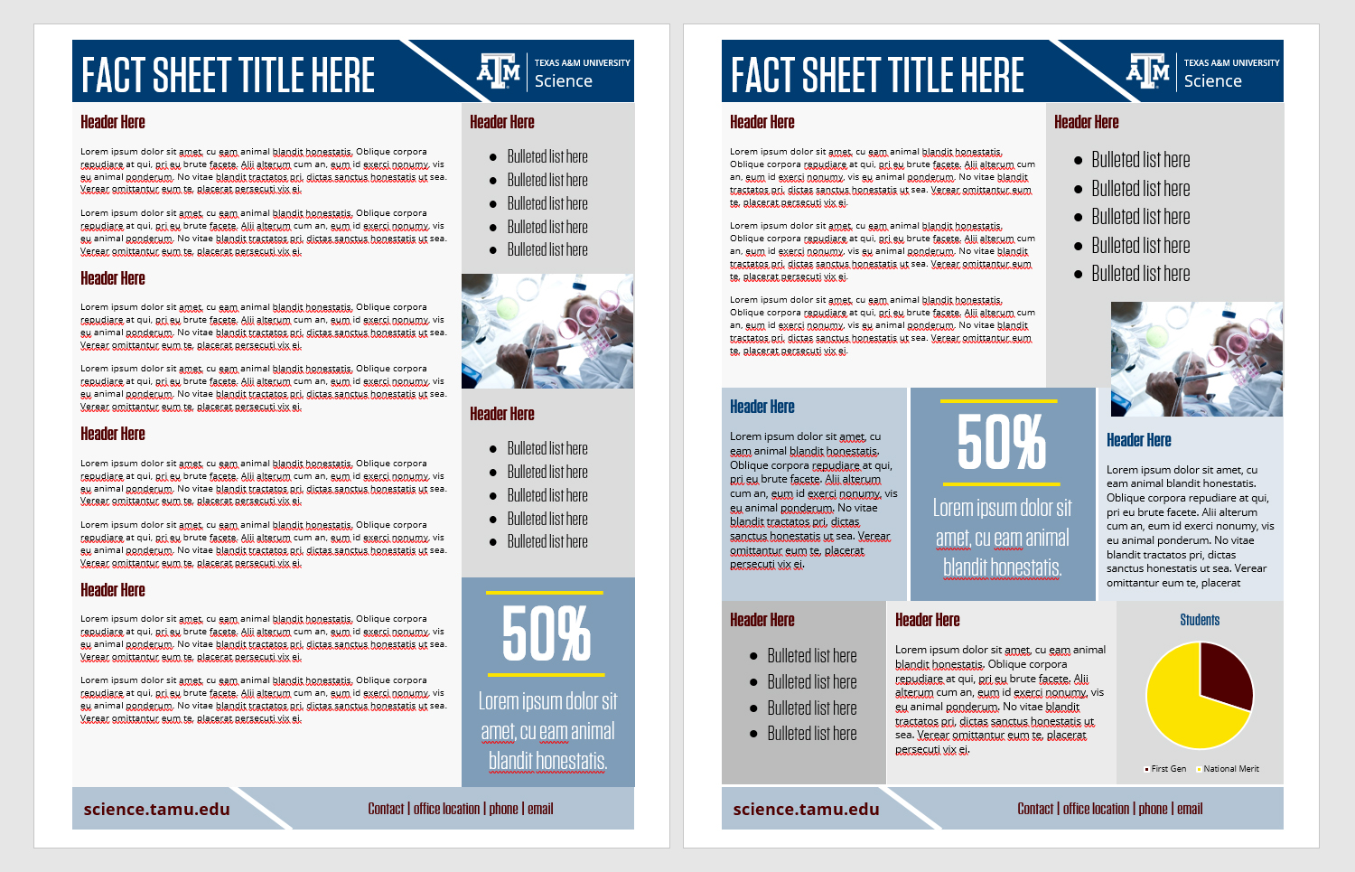 Fact Sheets - Texas A&M College of Science With Fact Sheet Template Microsoft Word