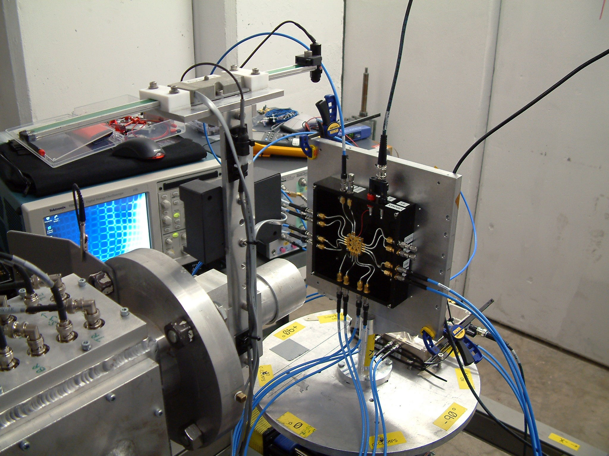 A SpaceX device undergoing testing within the Cyclotron Institute's Radiation Effects Facility
